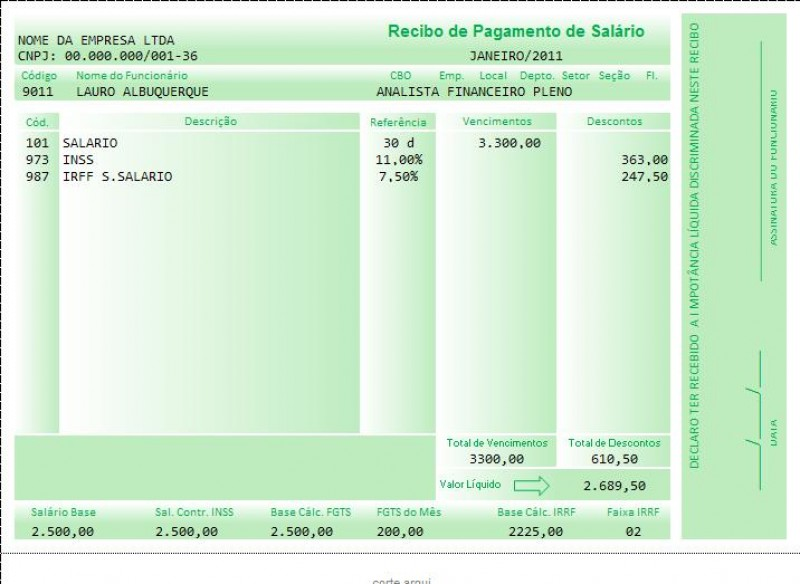 TST – Recibo de pagamento de salário sem assinatura do empregado não serve como prova