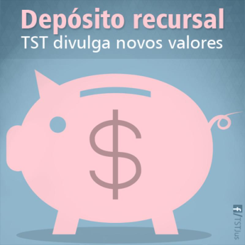 Novos valores referentes aos limites de depósito recursal trabalhista