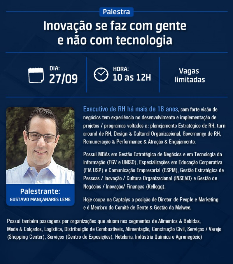 MRAA promoverá palestra sobre Inovação em RH