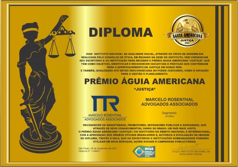 MRAA GANHA PREMIO AGUIA AMERICANA DE JUSTICA